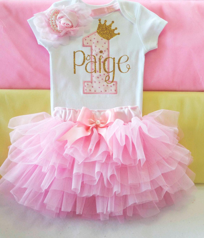 Ersten Geburtstag Outfit Mädchen Baby Mädchen 1. Geburtstag
