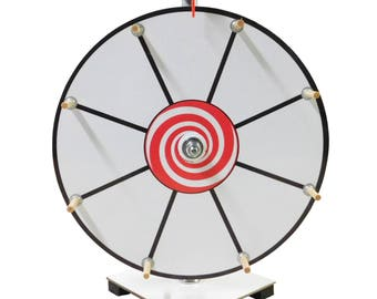Prize Wheel 12 inch Dry Erase White Face Classic Wooden Peg Design Free Shipping