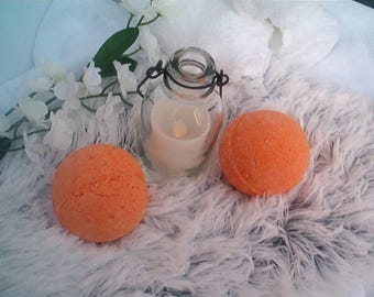 Mandarin Orange & Jasmine Bath Bomb, Bath Fizzy, Elegant Bath Bomb, Fragrant, Luxury Bath Bomb, Handmade, Citrus Bath Bomb