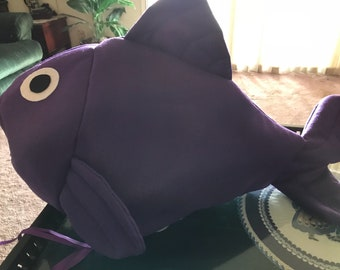 Purple fish costume