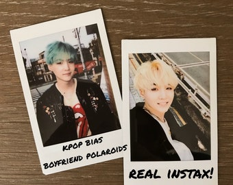 pair of real instax polaroid photos - pick your bias!