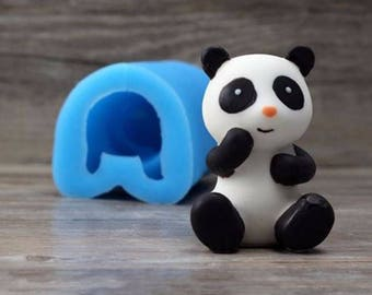 Pete the Panda Silicone Mould