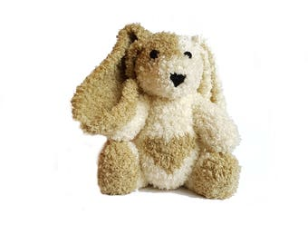 Silvia the Hand Knit Bunny, soft toy, Handmade, stuffed animal, children's toy, baby shower gift, Easter, nursery decor, soft bunny, plush