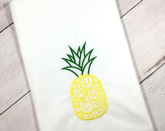 Pineapple Tea Towel, Pineapple Kitchen Towel, Flour Sack Towel, Foodie Hostess Gift, Pineapple Kitchen Decor, Housewarming Gift
