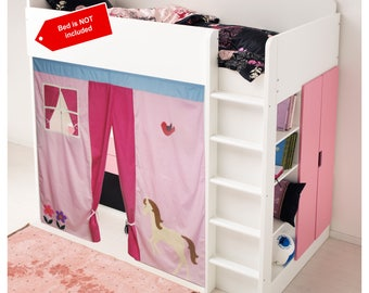 Bunk Bed tent / Loft bed curtain - free design and colors customization