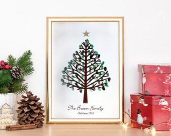 Personalised Christmas Fingerprint Tree