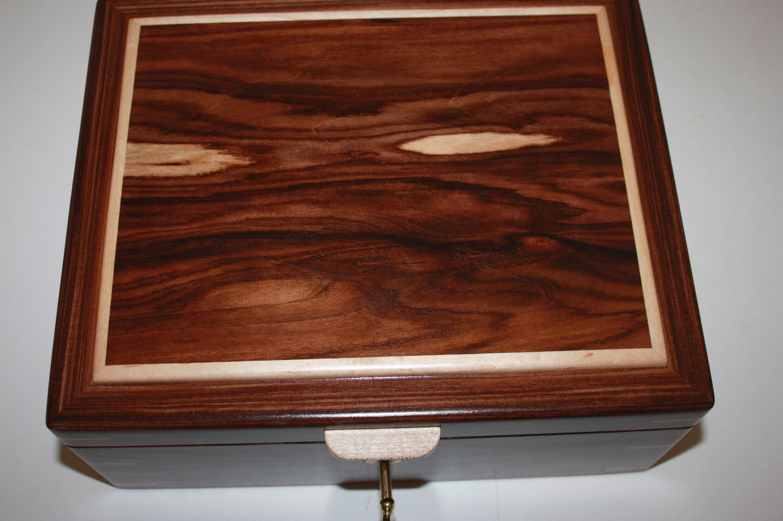 Morado/Bolivian Rosewood Humidor For Sale