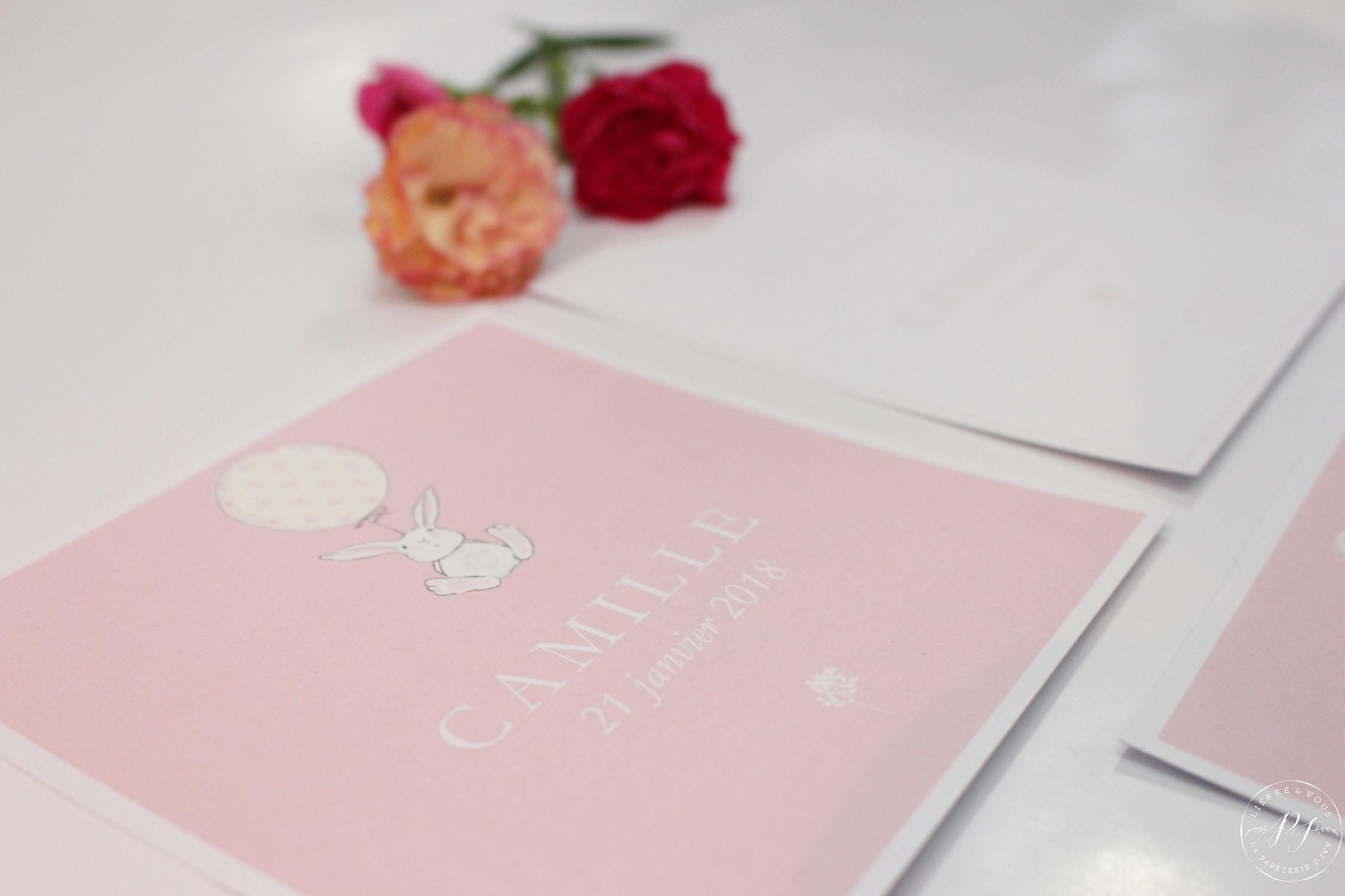 La Papeterie dIvy - Collection Naissance CAMILLE