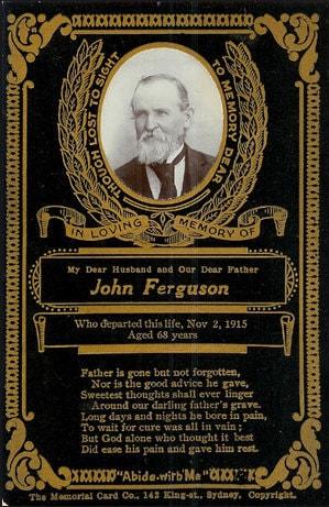 A Victorian memorial card