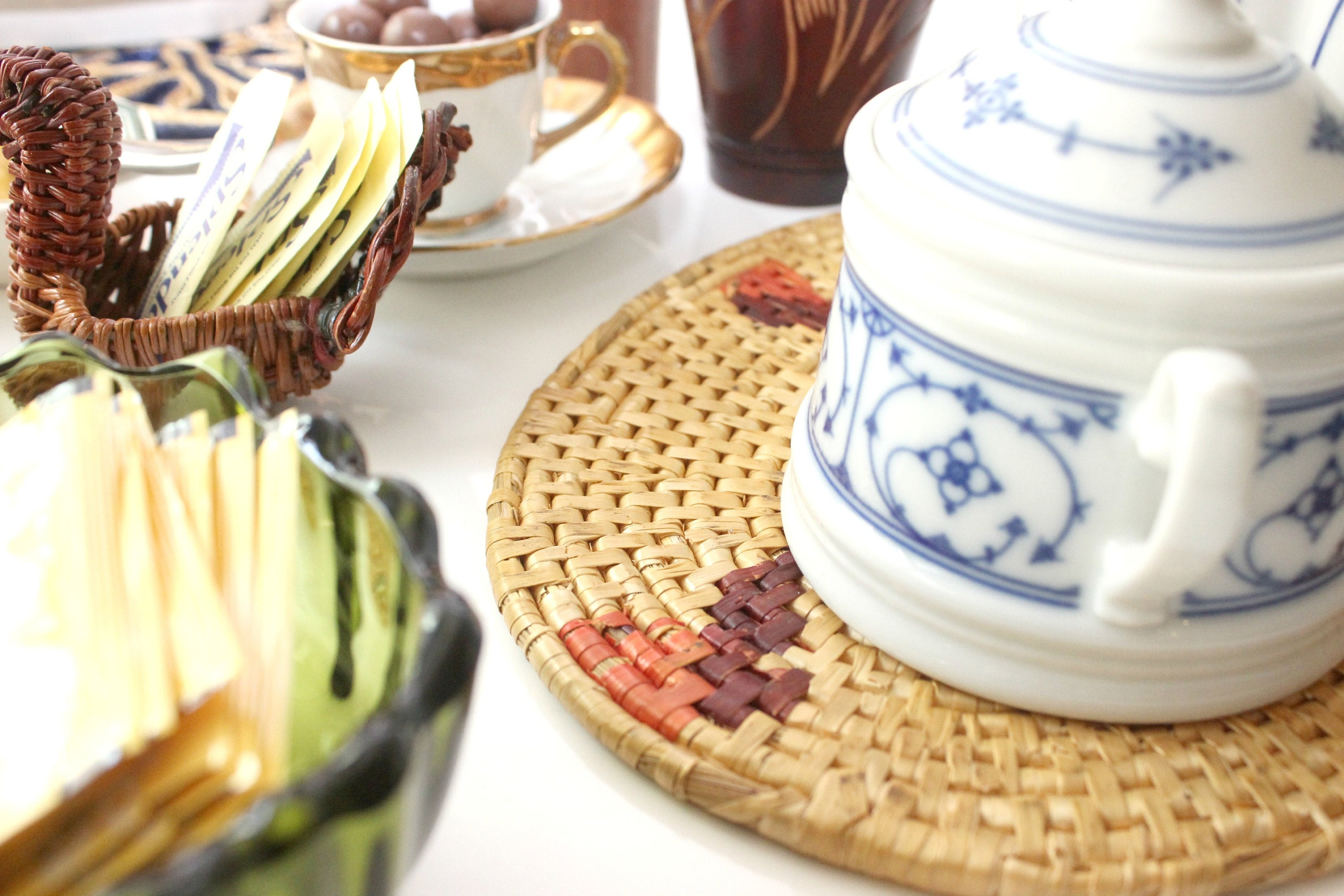 Harvest Tea Collection by Mendez Manor. A gathering of 11 items perfect for an autumn tea setting!
