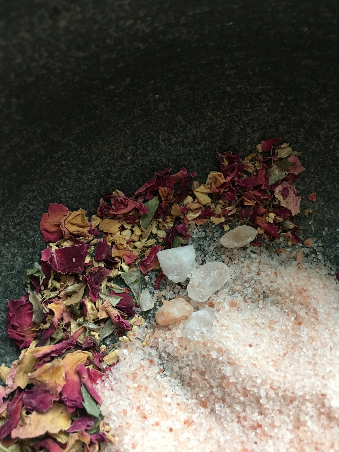 I use Himalayan Pink Salt for this particular recipe, It contains minerals and elements found in the human body and can help balance the bodys PH.