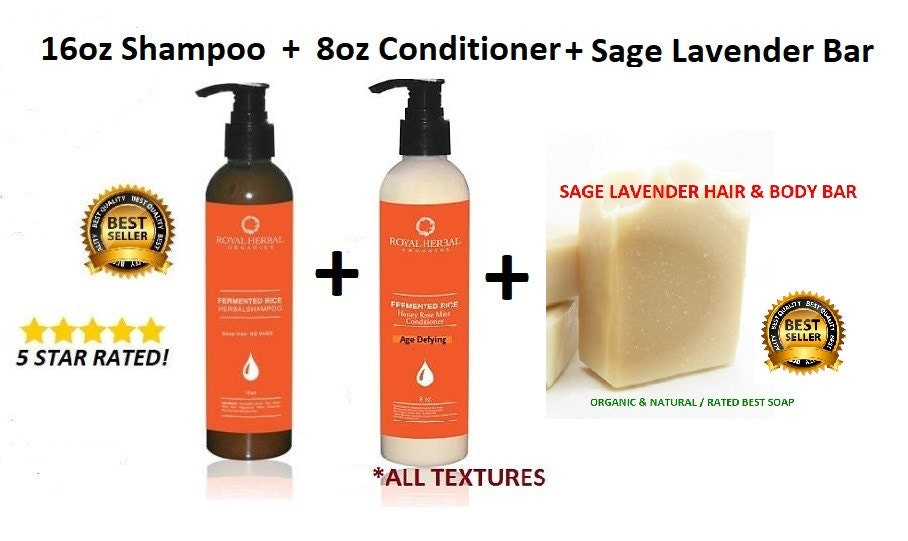 Fermented Rice Shampoo Otto Rose Conditioner Soap