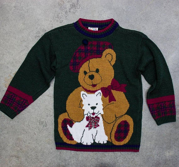 Teddy Bear Holiday Sweater