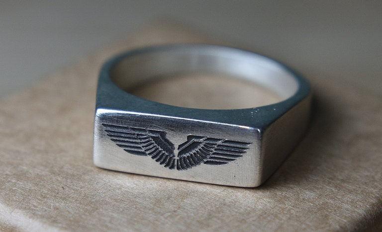 outside engraving ring