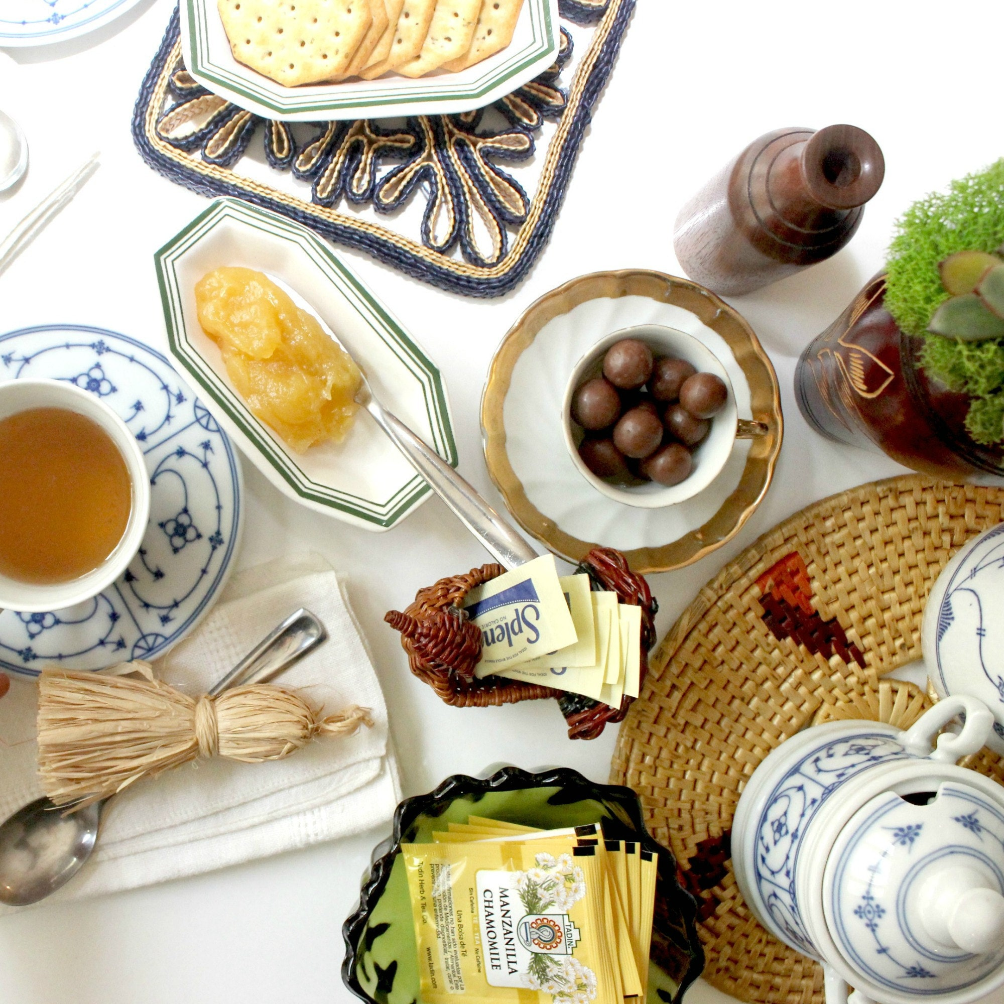 Harvest Tea Setting by Mendez Manor