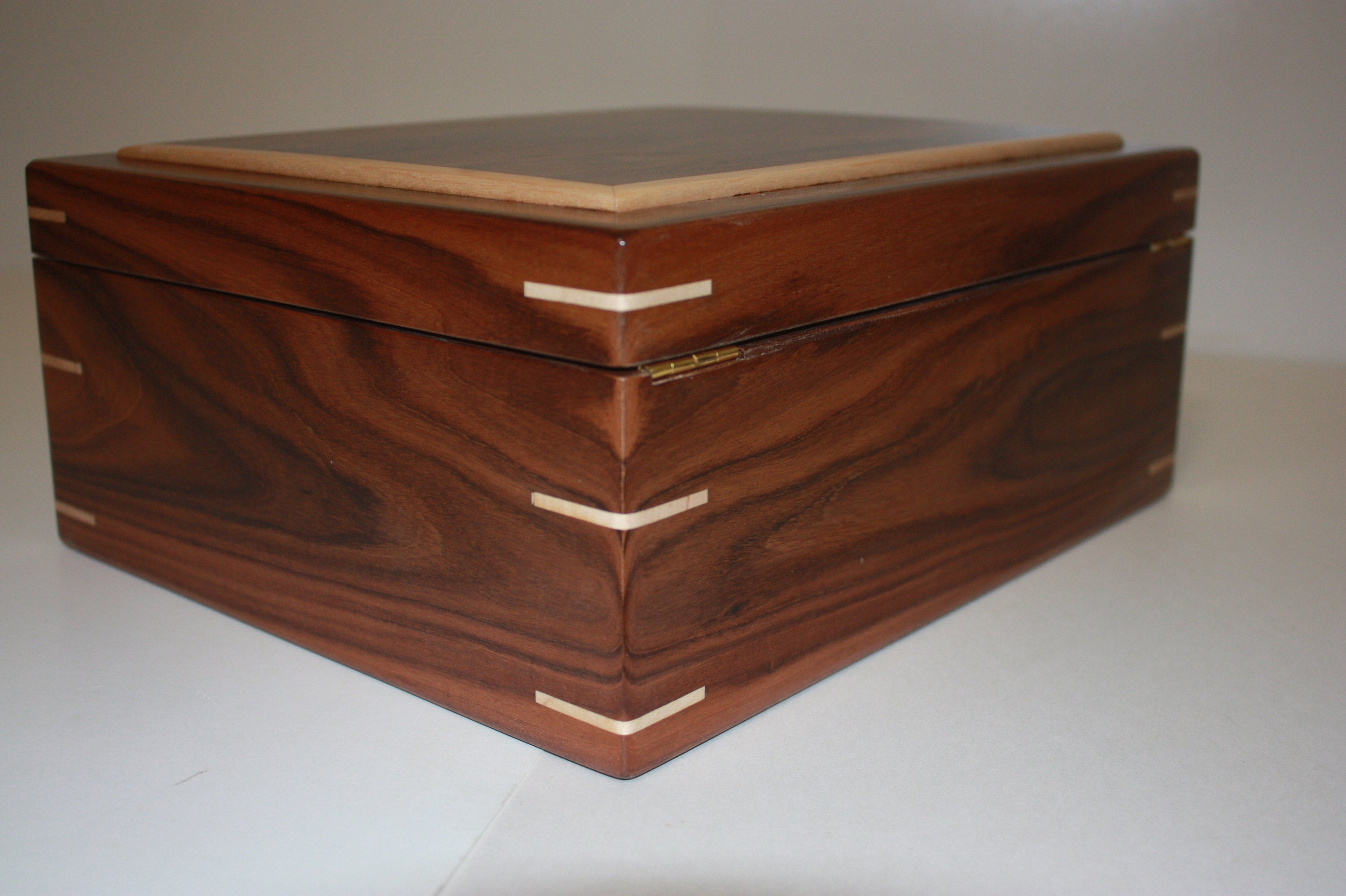Handcrafted Morado Rosewood Humidor For Sale