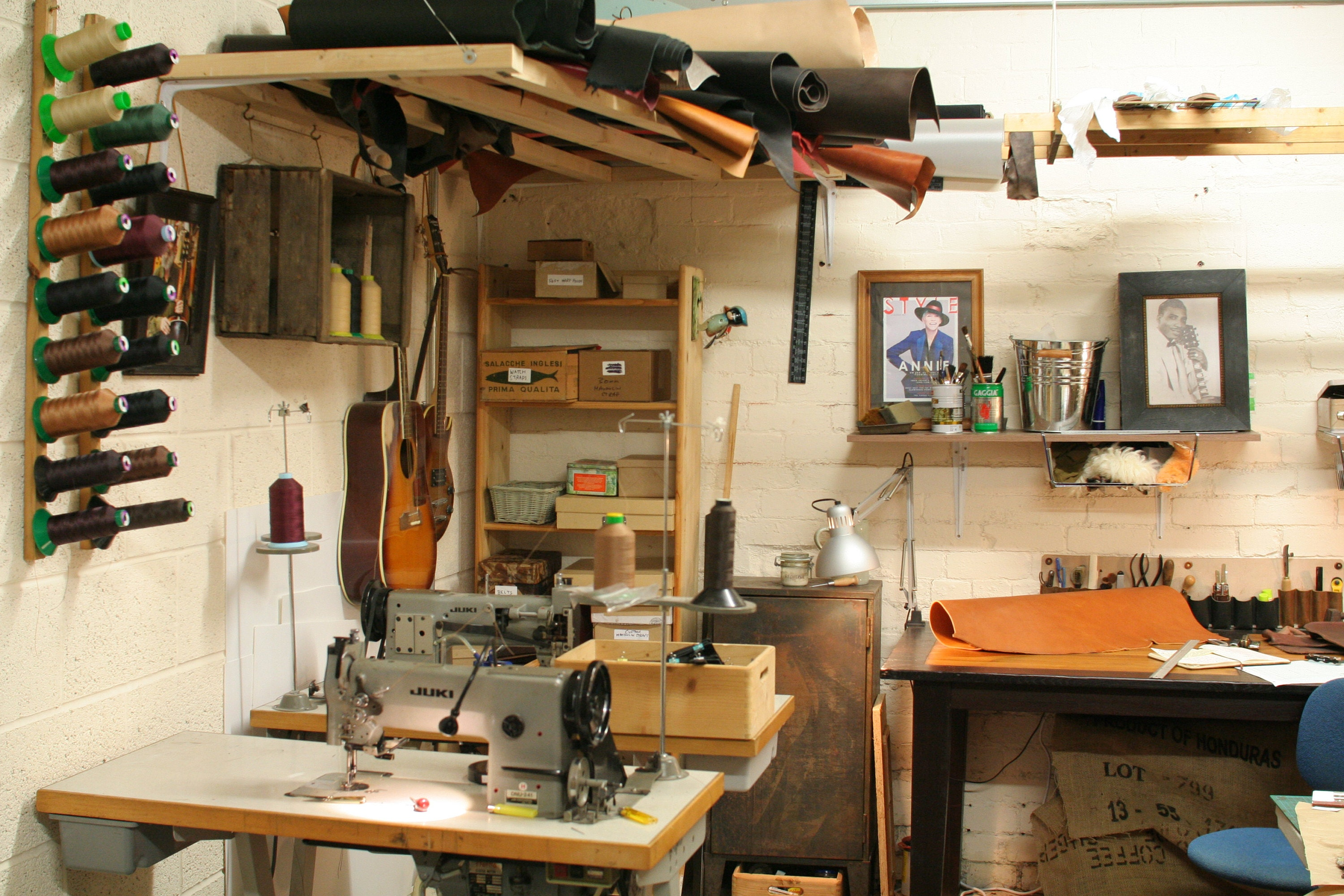 The Pinegrove Leather workshop