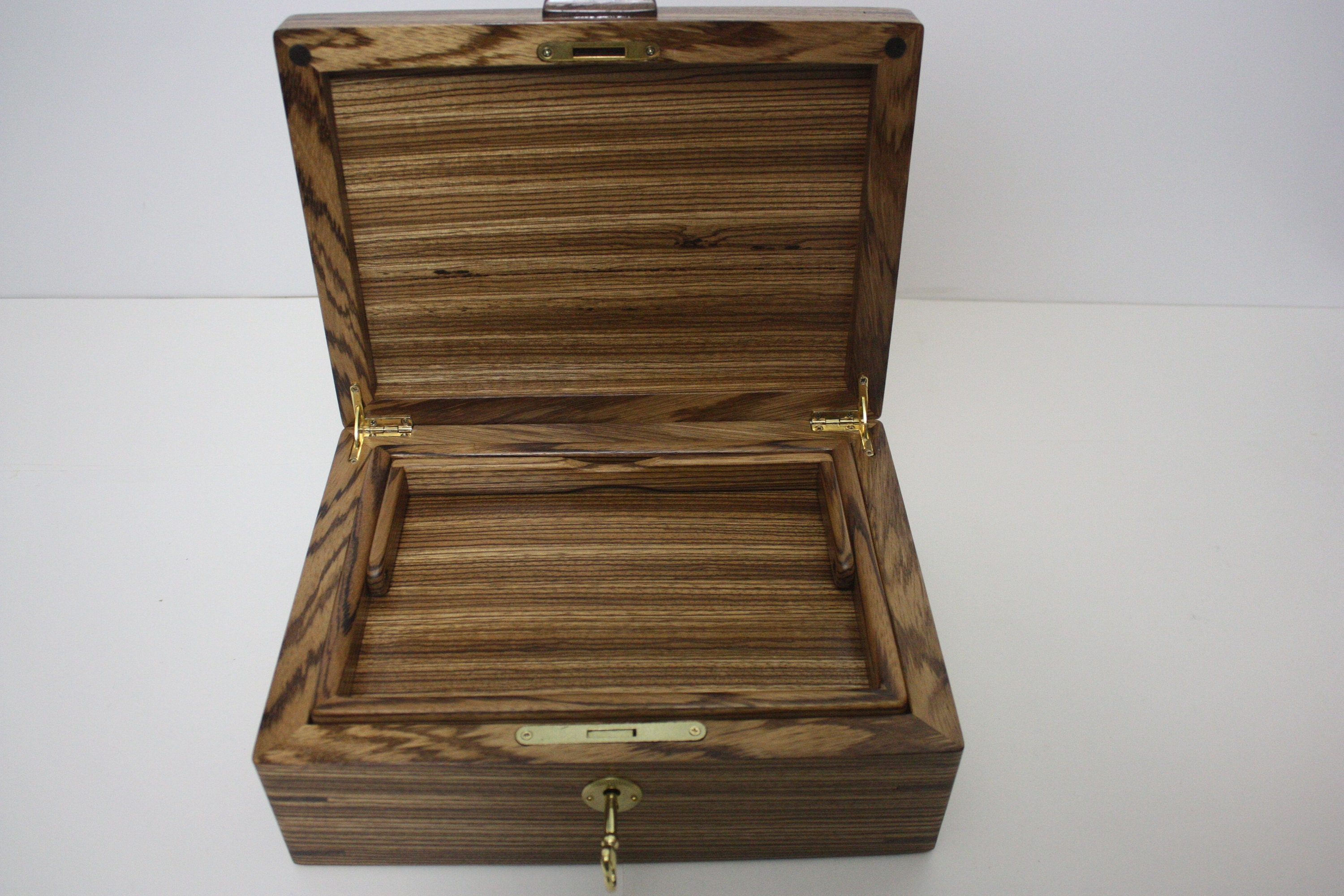 Zebrawood Box with Lift Out Tray