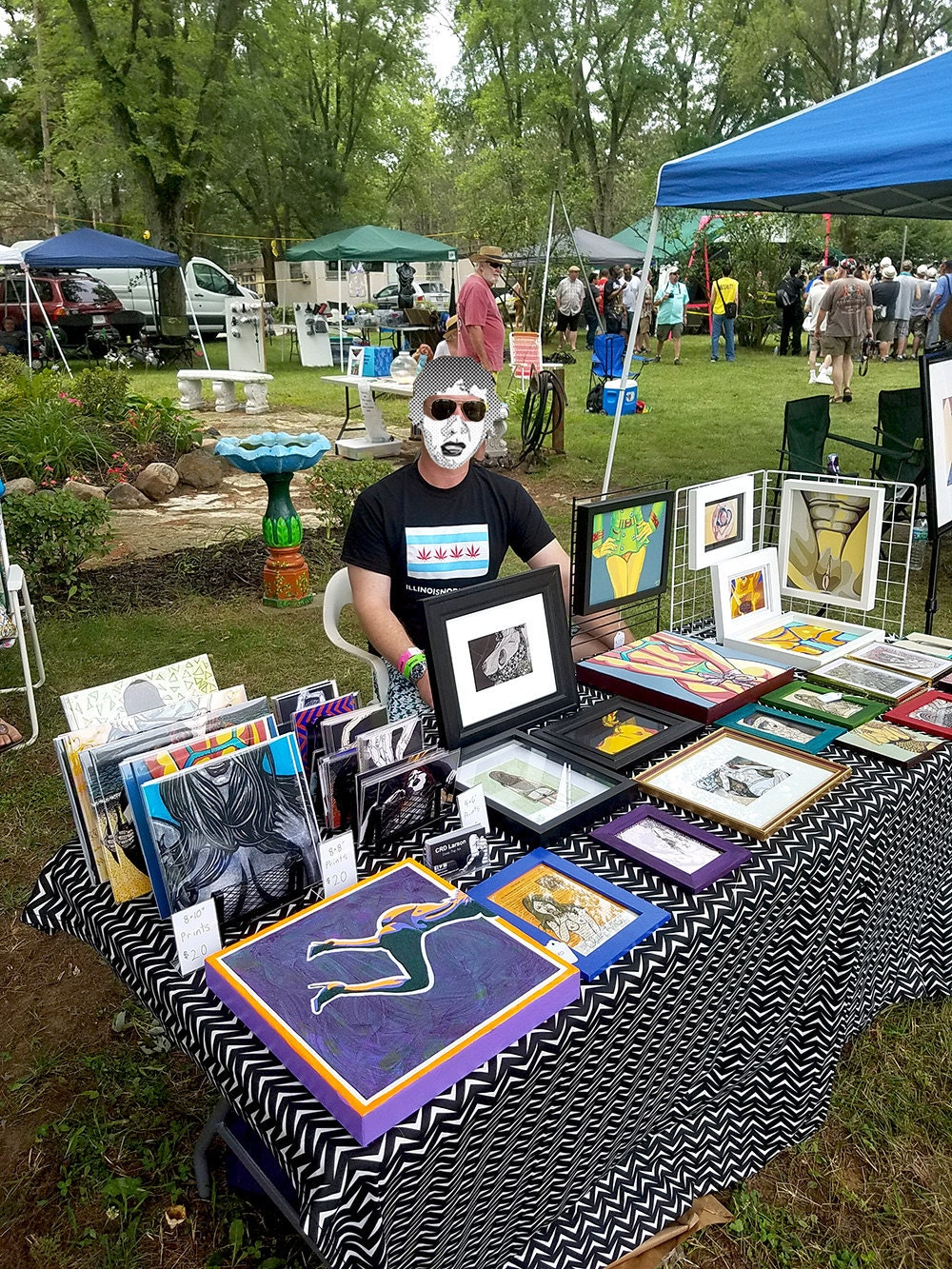 CRD Larson Artist Exhibitor Booth, Nudes A Poppin Festival, July 2017.