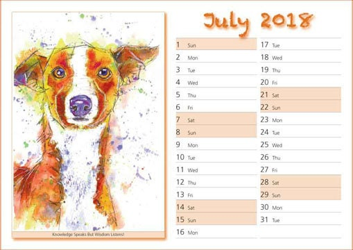 Example of inside of SightHound Calendar.