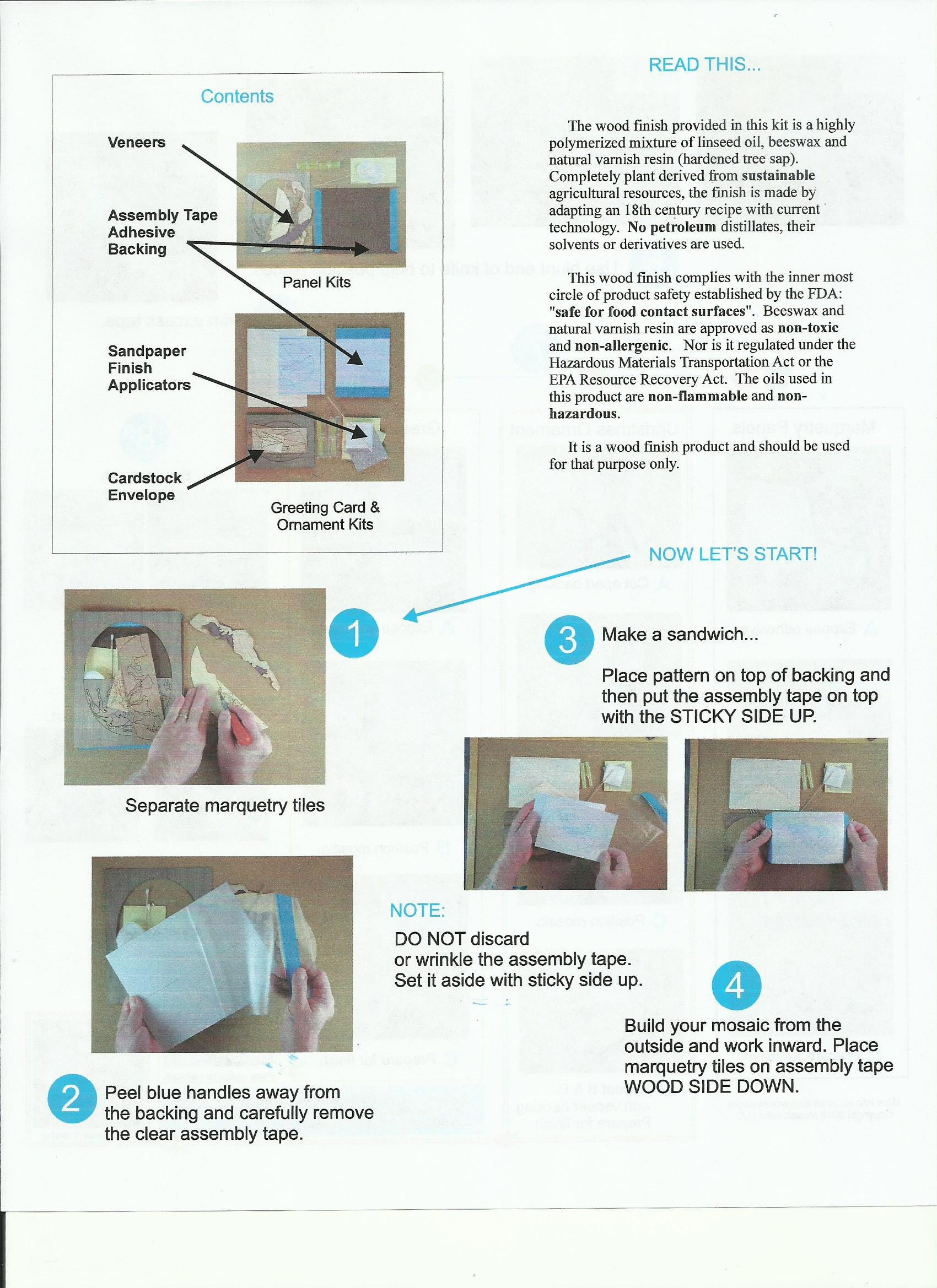 ez marquetry instructions side a
