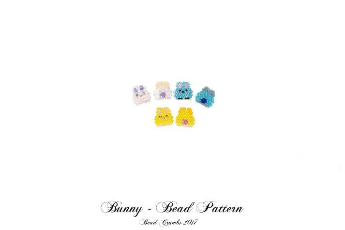 Mini Bunny Bead Pattern by Bead Crumbs