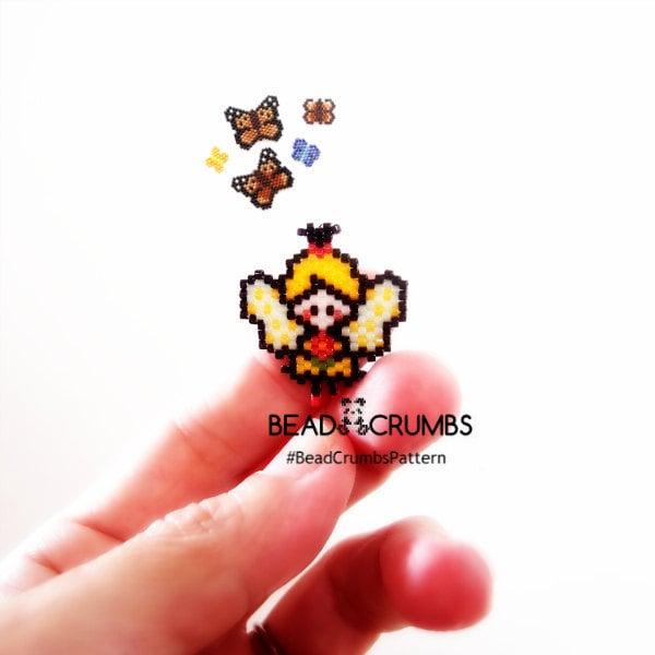 Fairy Brick Stitch Bead Pattern by Bead Crumbs