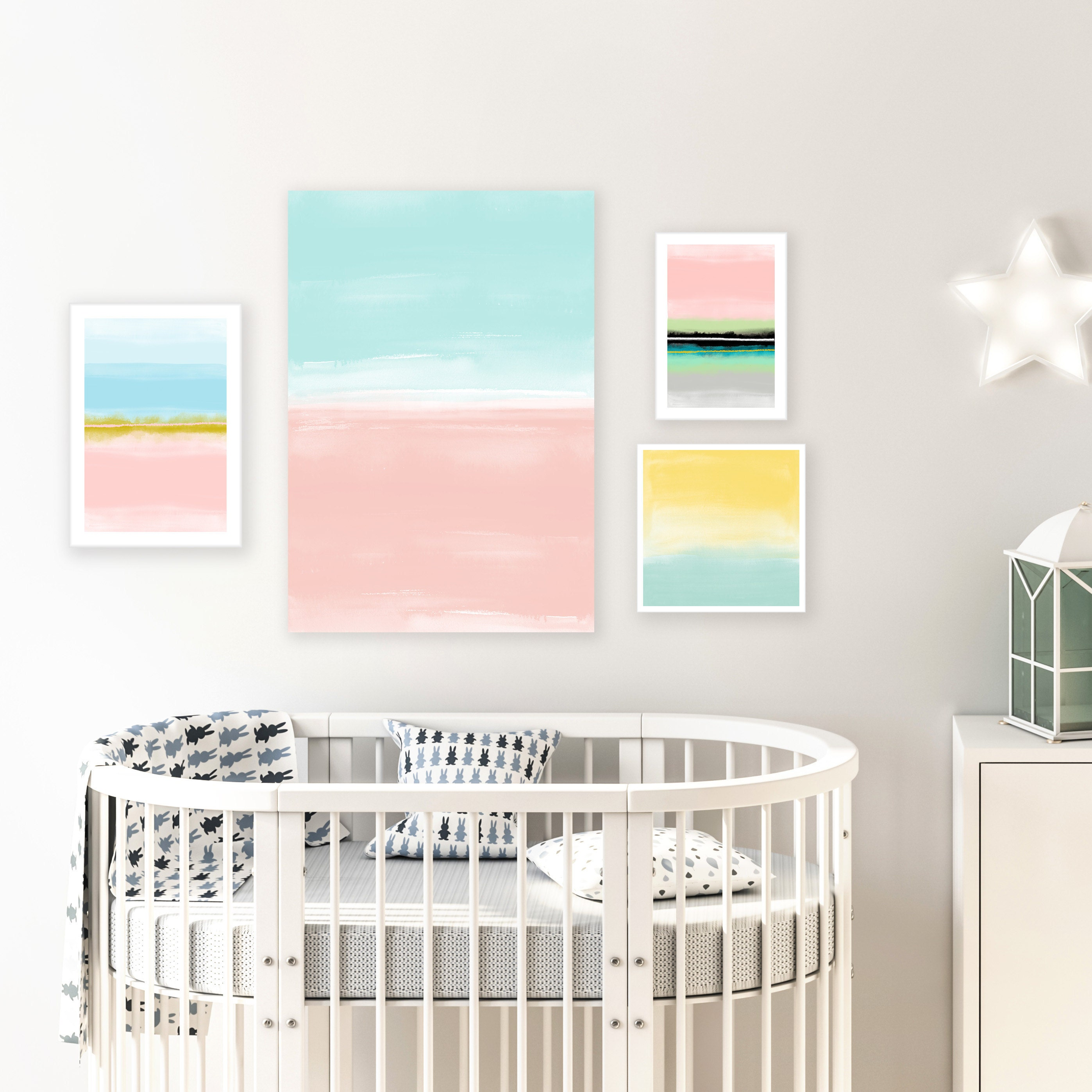 Nursery Gallery Wall Art by inspiration Abstracts