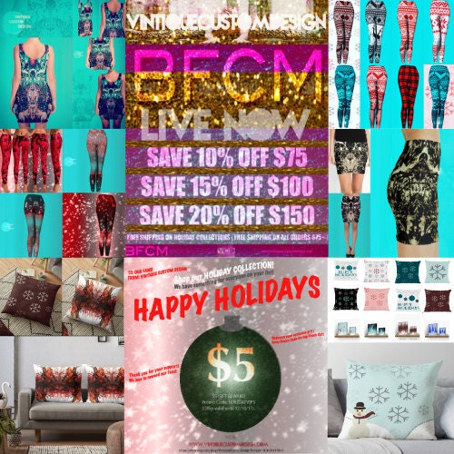 Vintique Custom Design BFCM SALE SHOP NOW Leggings Christmas Womens
