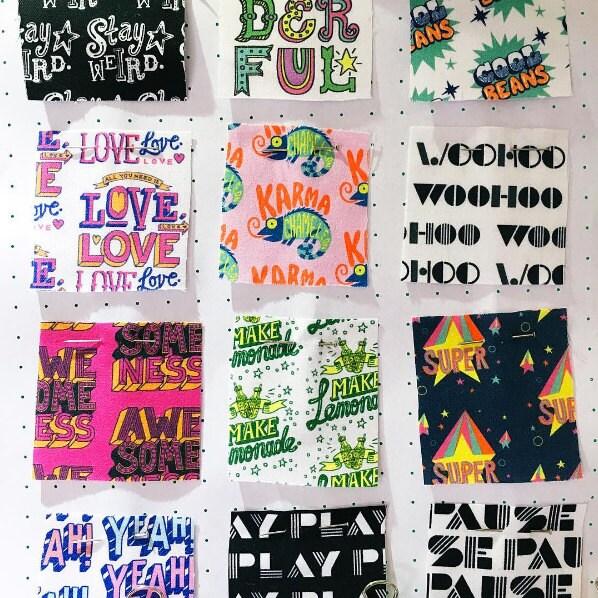 Typographic fabrics