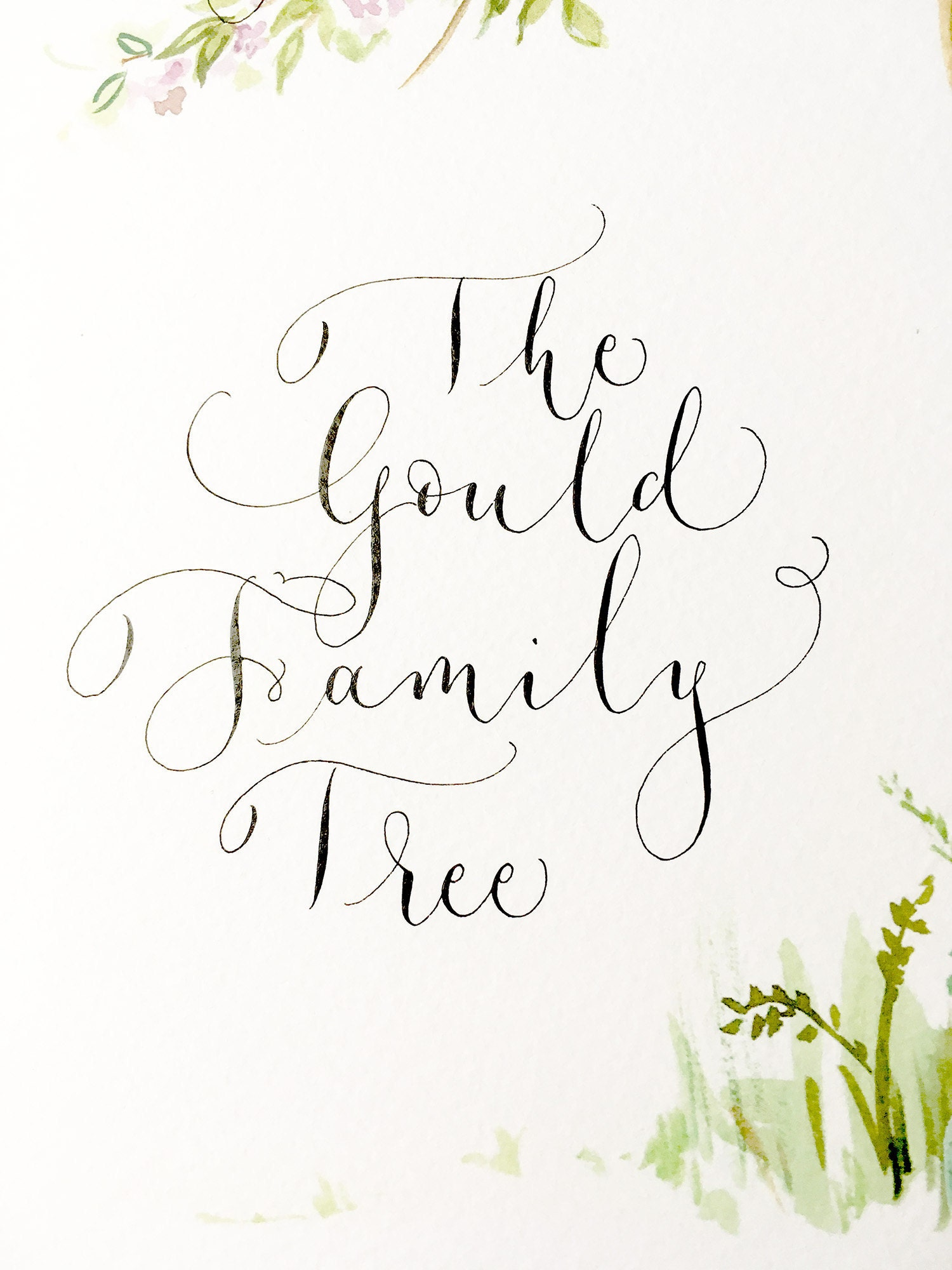 personalised modern family tree print