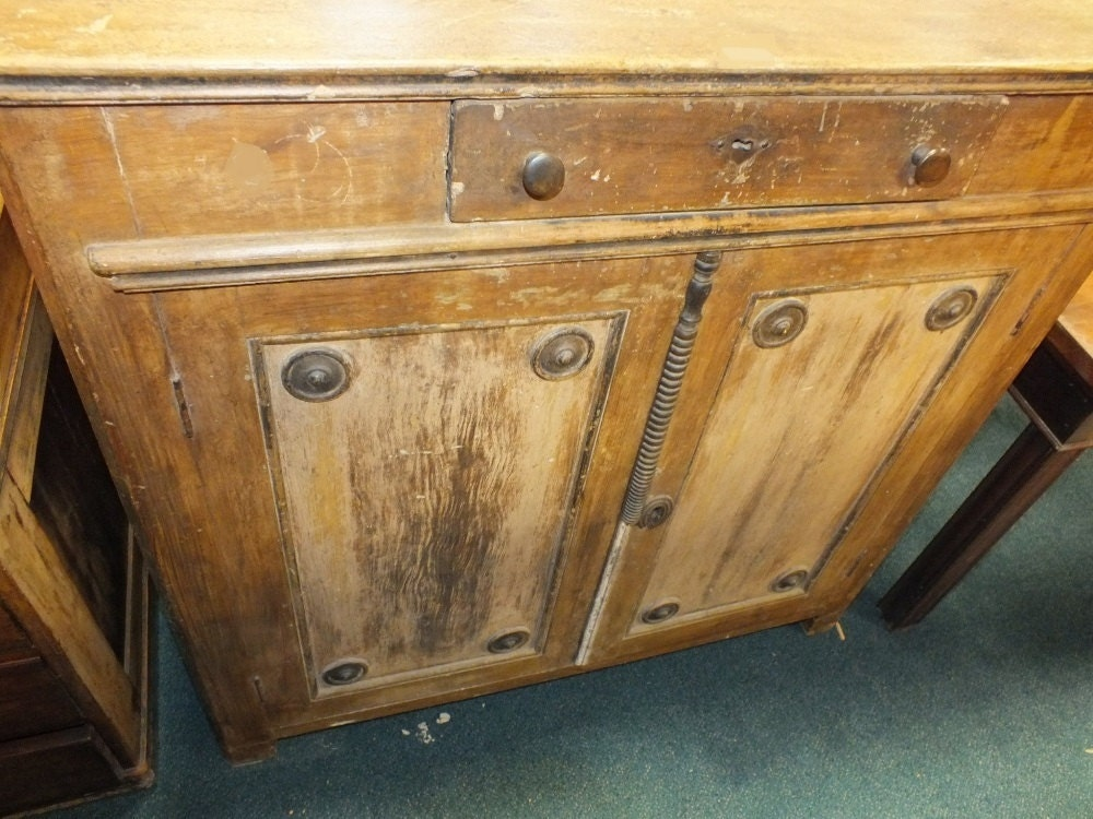 Antique French cupboard with drawer