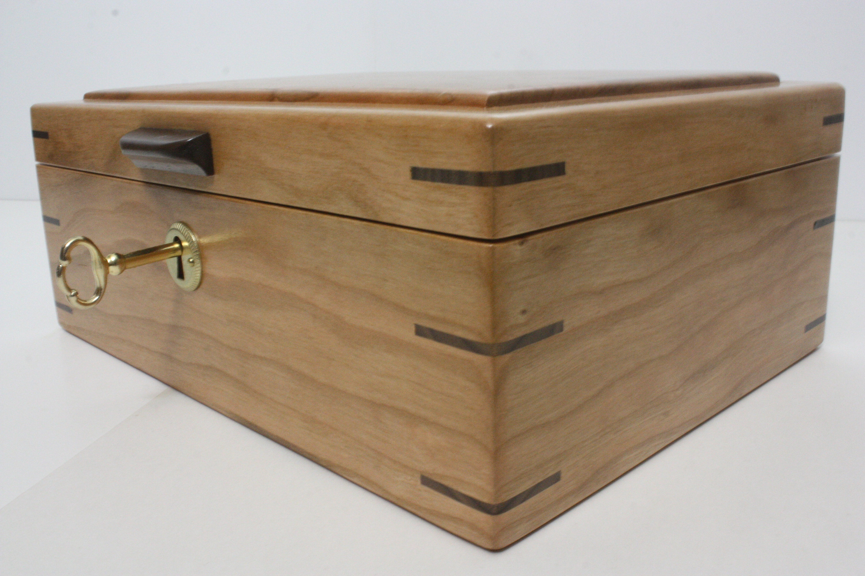 Locking Wood Box