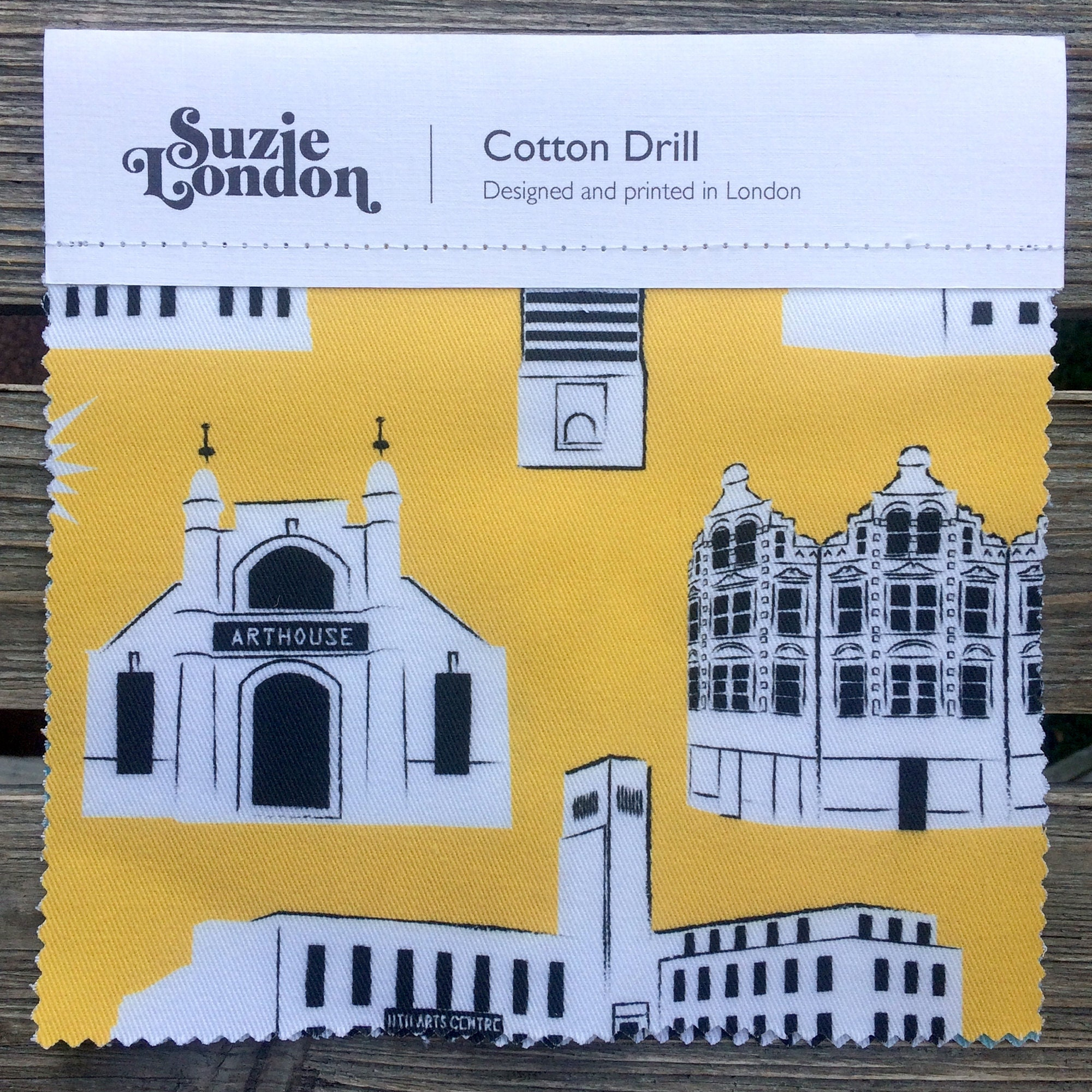 Suzie London Crouch End cotton drill fabric swatch at Nest in Crouch End