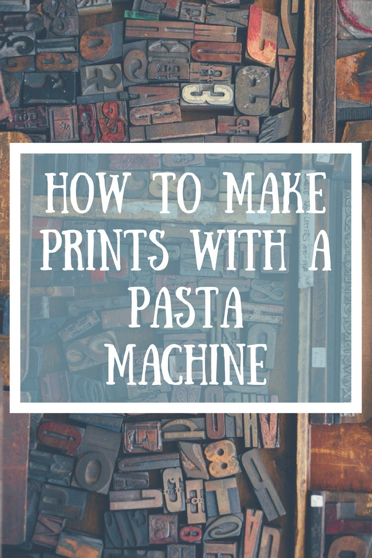 Did you know you dont need loads of fancy equipment for printing and etching? Learn how you can do it with just a pasta machine! | Bears Get Crafty