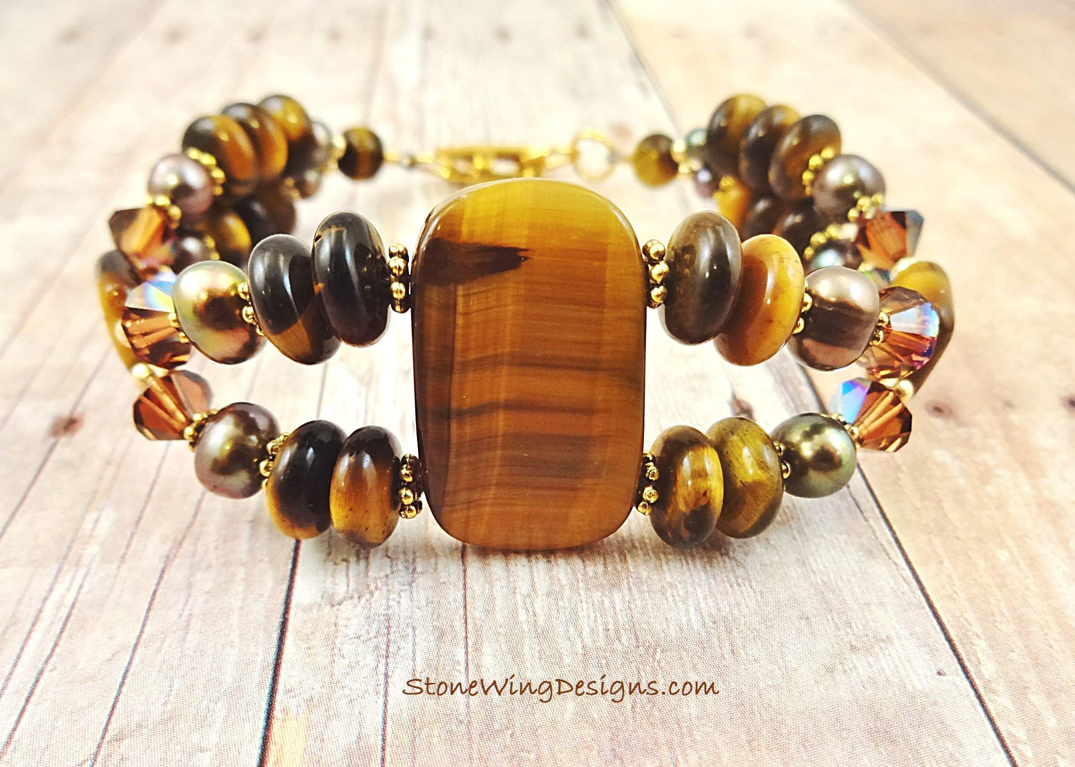 Unique One of a Kind Tigers Eye Bracelet