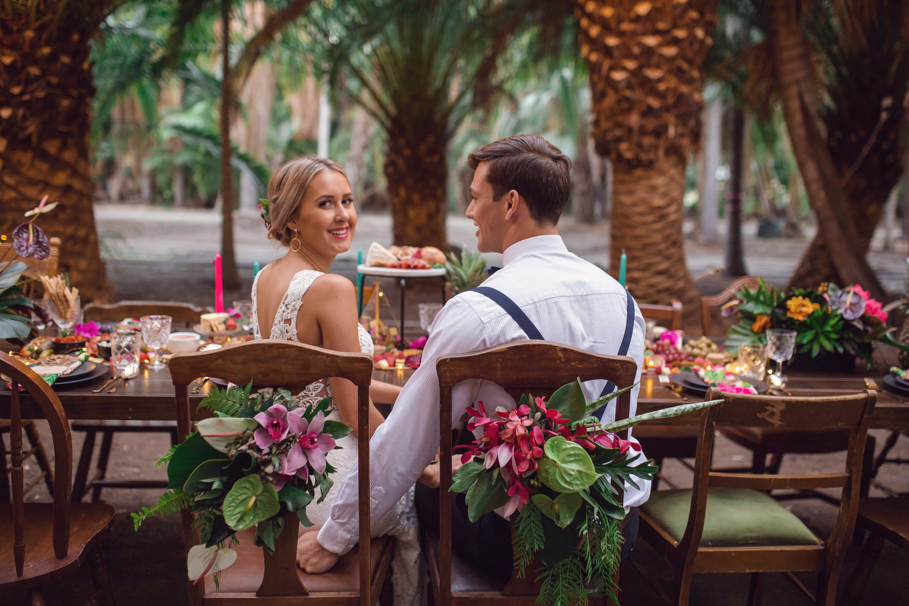 Tropical Summer wedding