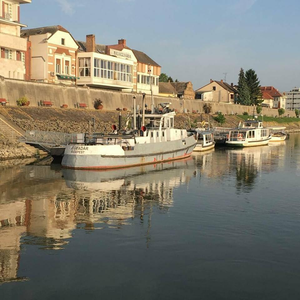 Boat across Danube