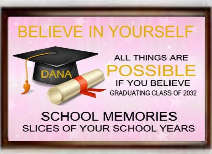 School memories,  keepsake box, photo box