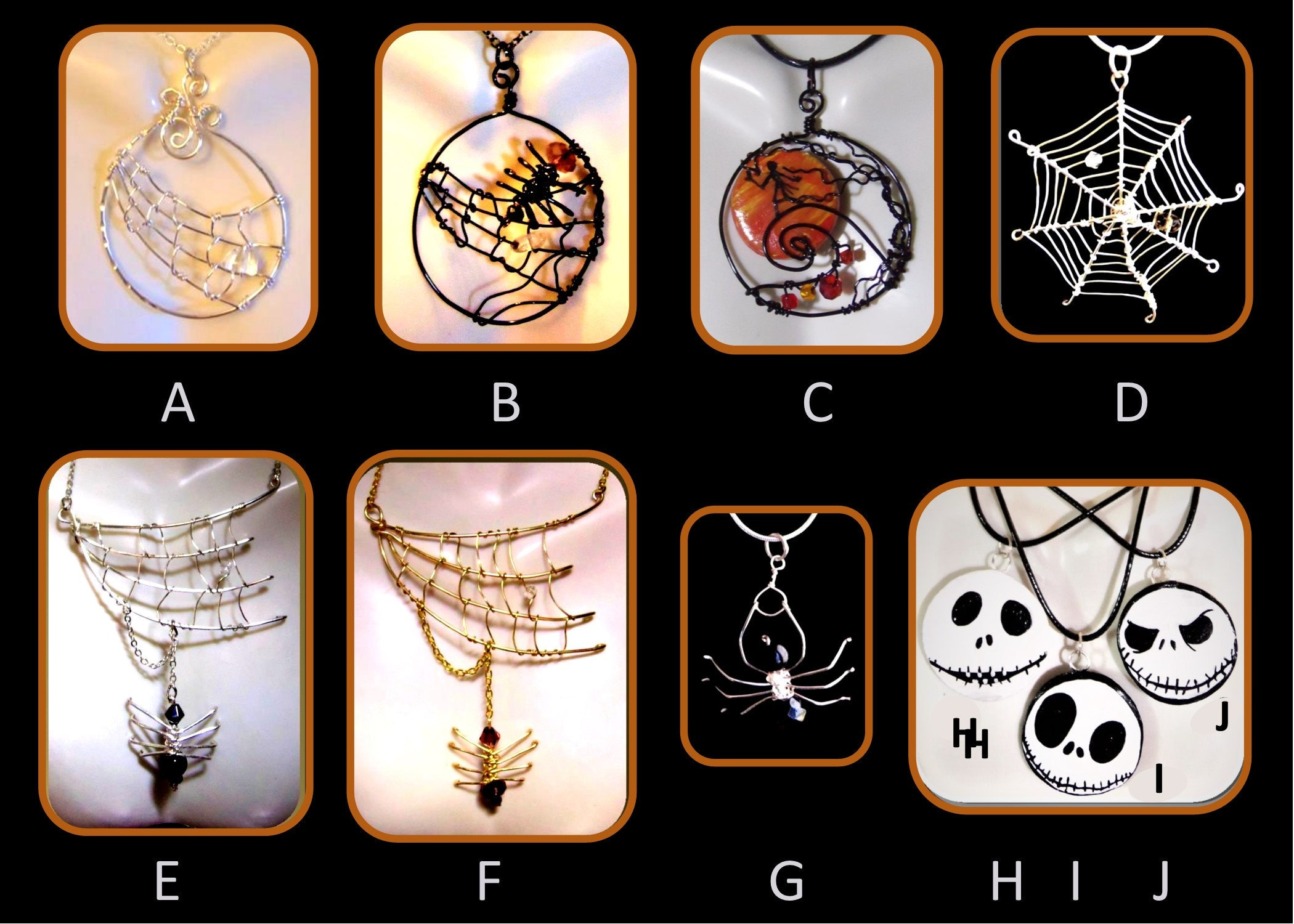 One of a kind, Halloween Wedding jewelry