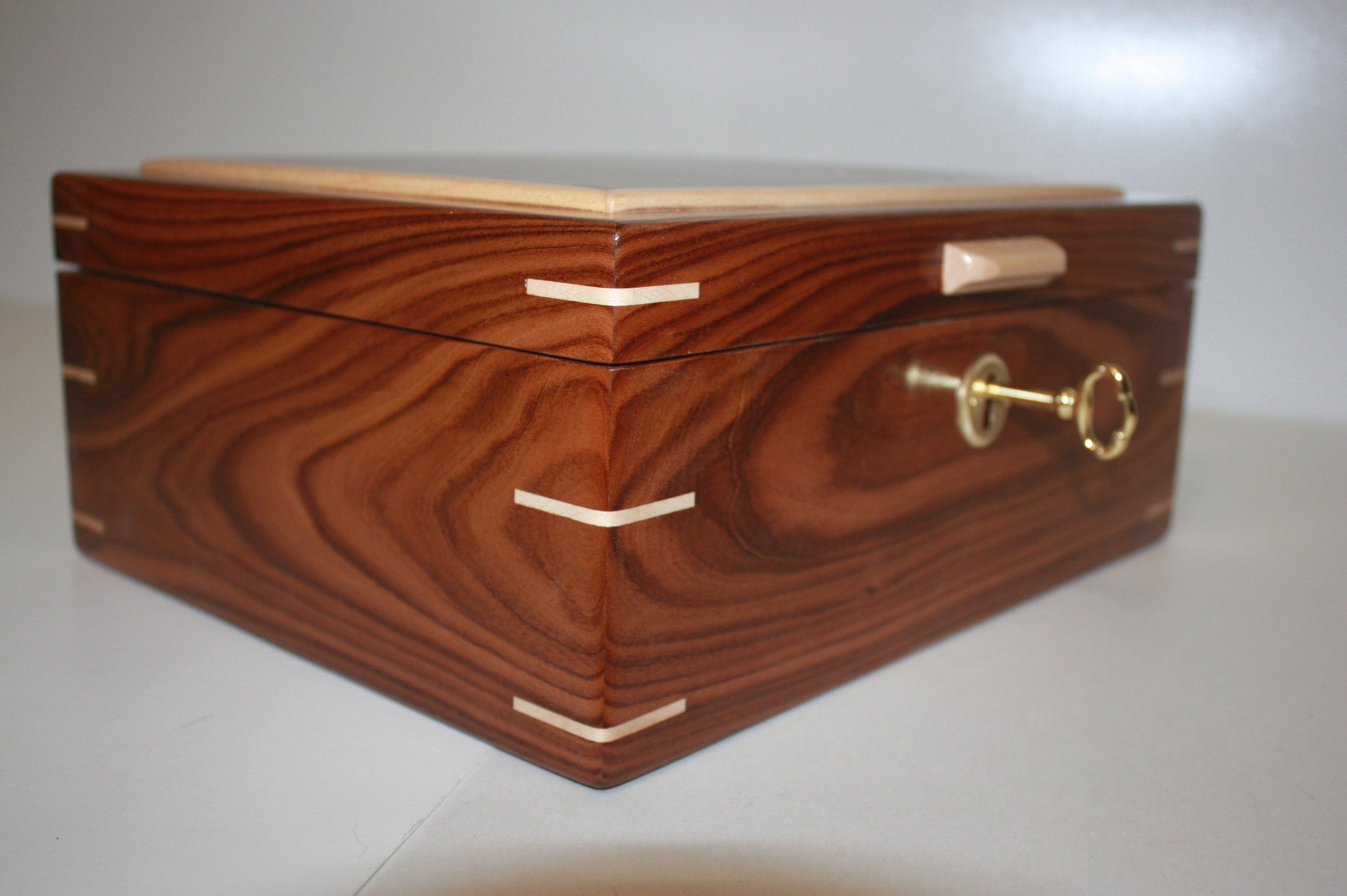 Handmade Rosewood Locking Box For Sale