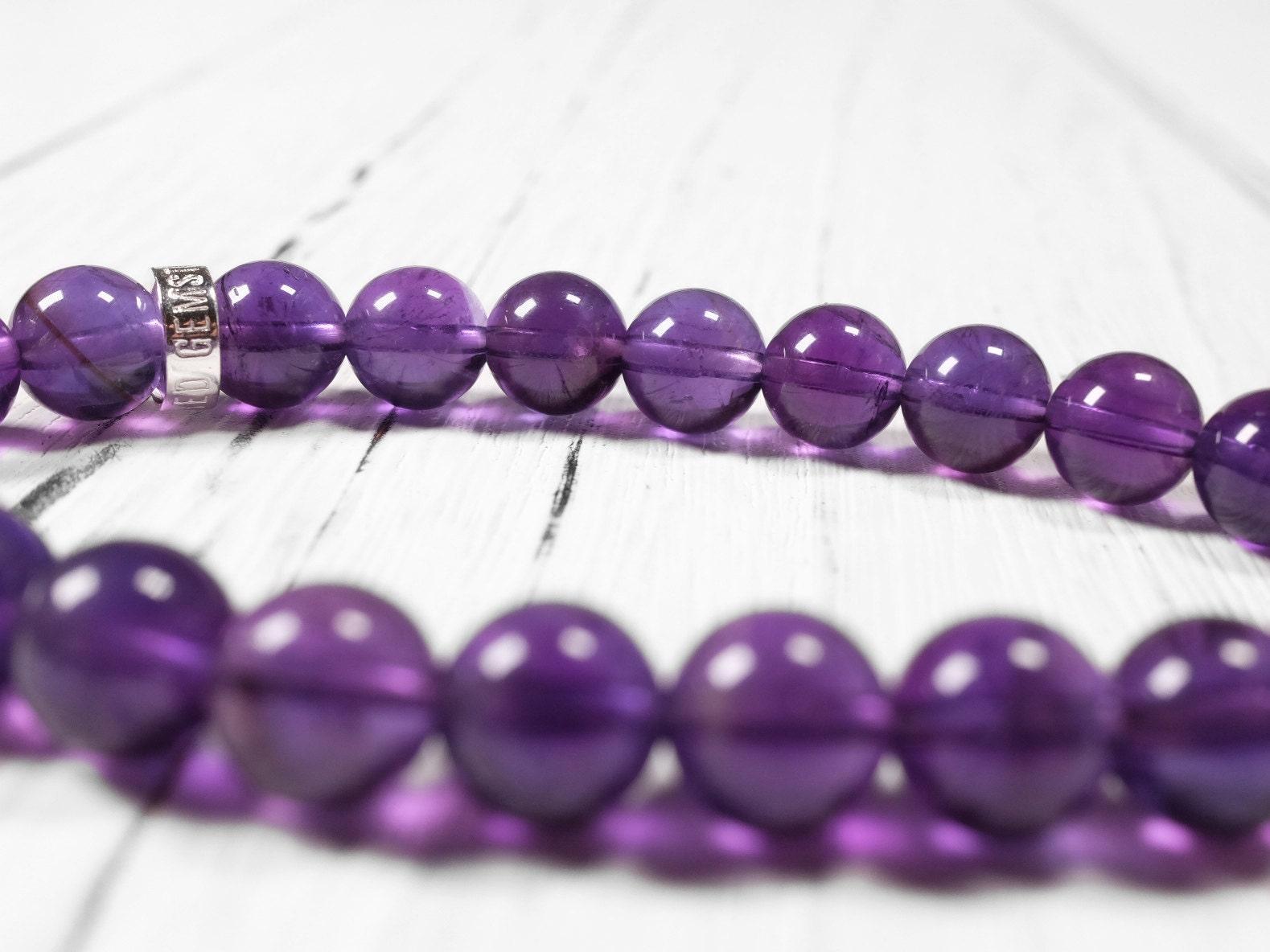 unearthed gemstones natural amethyst bracelet