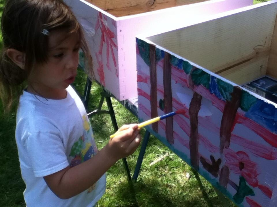 Painting our First Hives