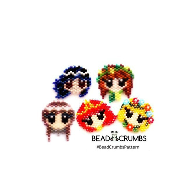 Five Elements Princess Bead Patterns by Bead Crumbs