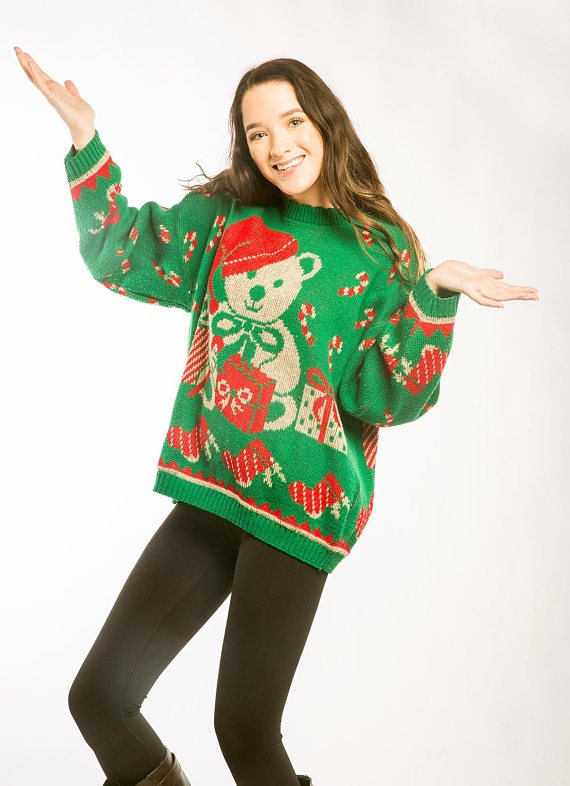 Teddy Bear Christmas Sweater