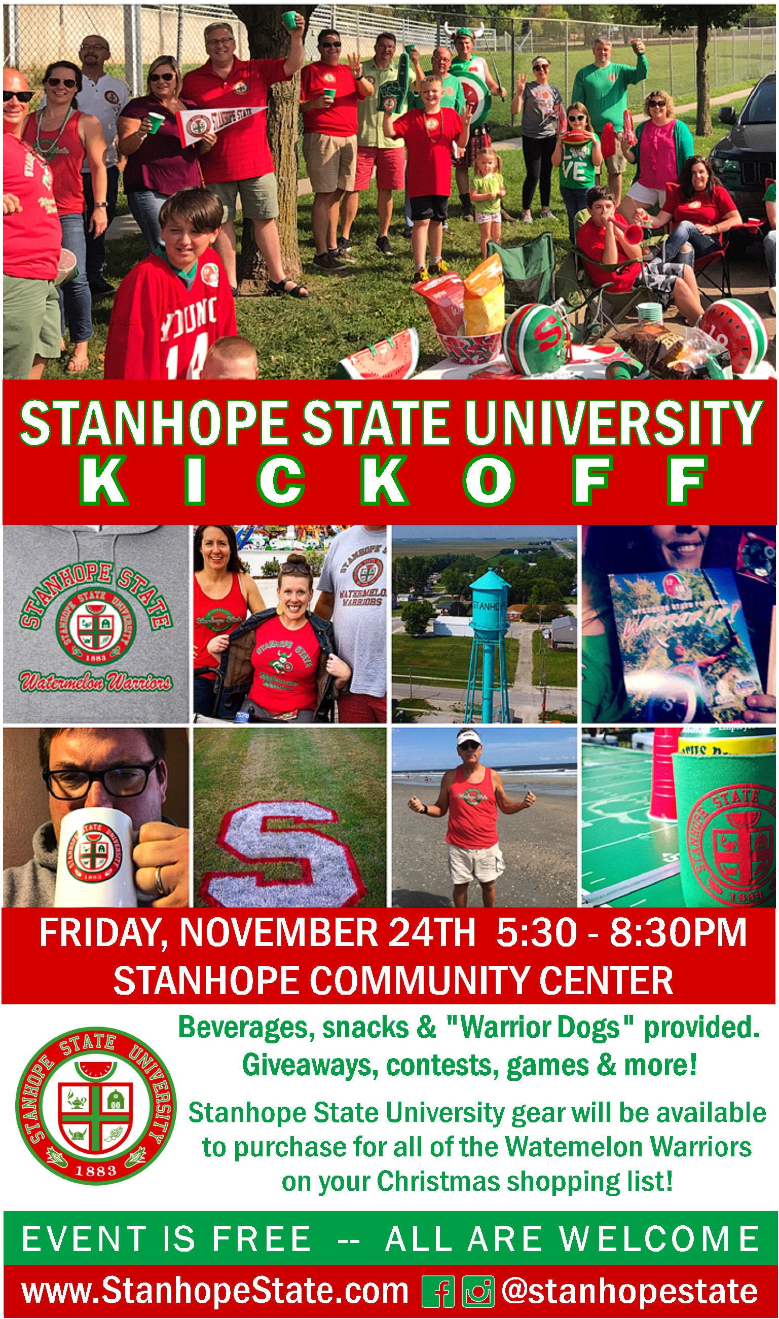Join us on Friday, November 24th in Stanhope!
