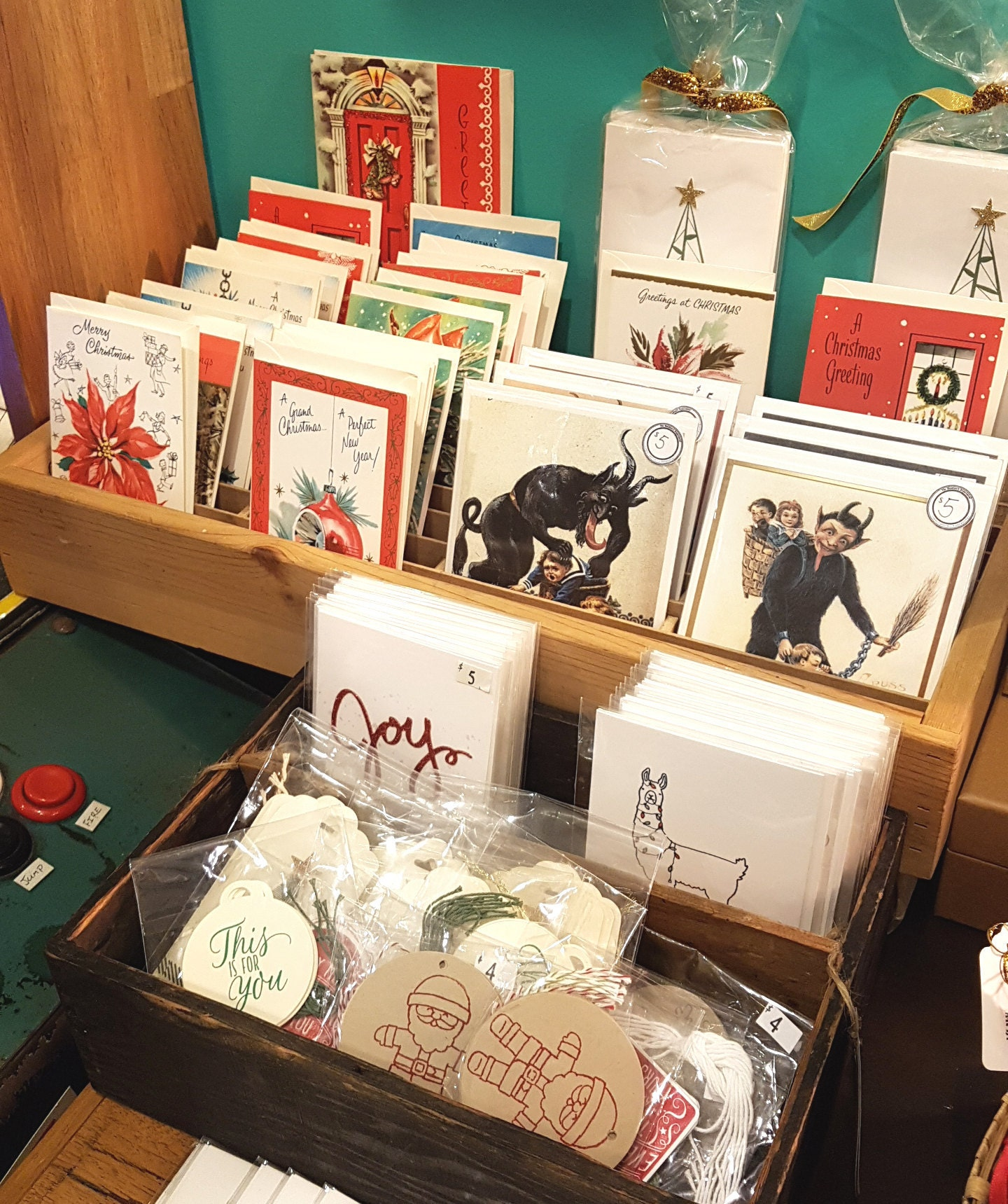 Vintage Christmas Cards $3, Krampus Cards $5