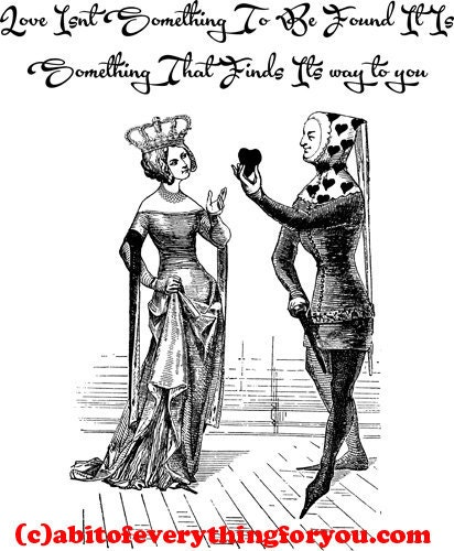 Queen of hearts with a Jester fool