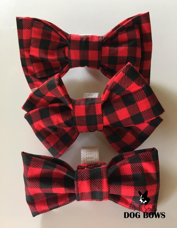 buffalo plaid bows