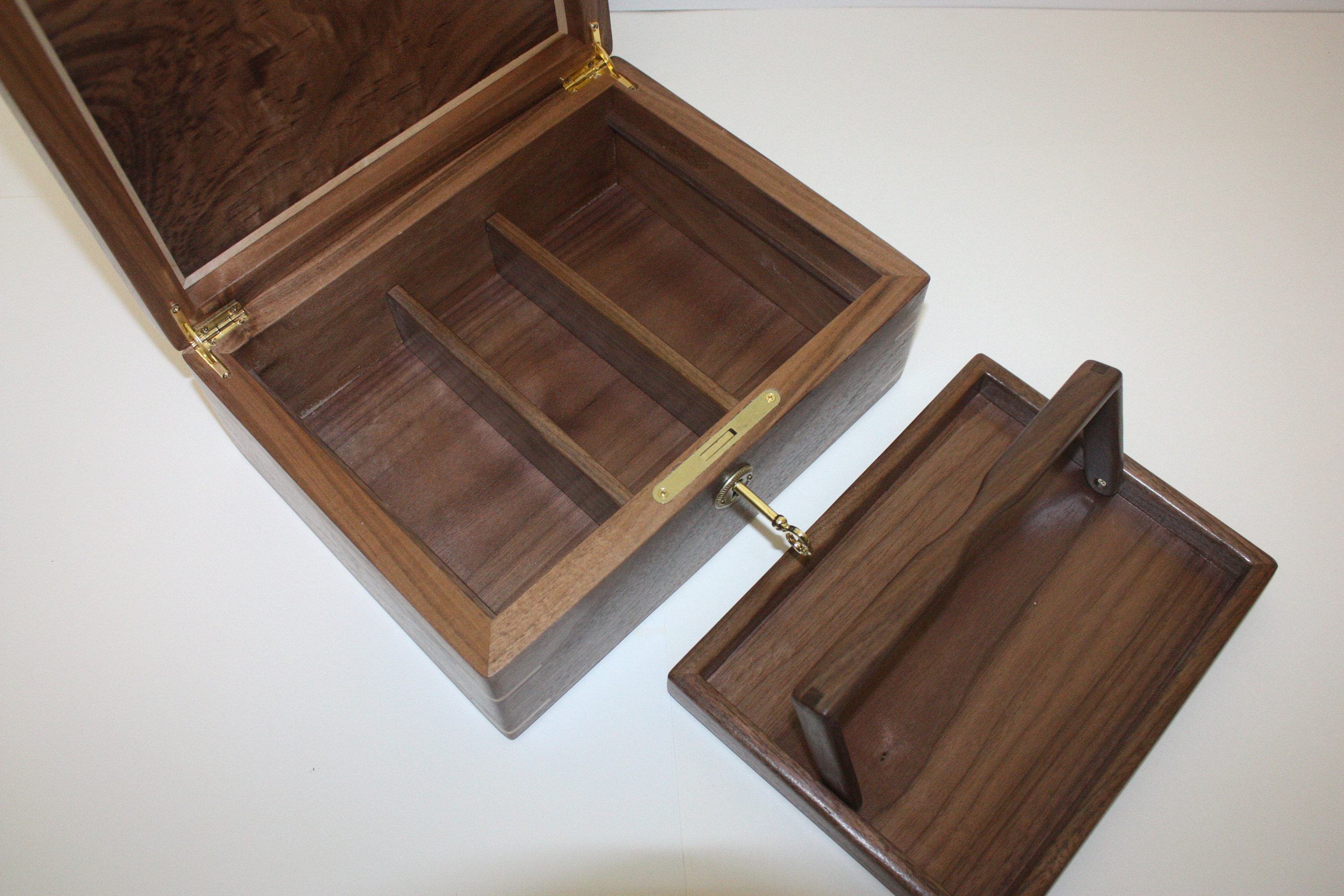 Large wood locking box